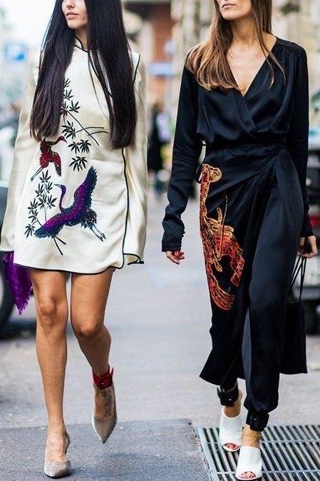 ใครว่าตรุษจีนต้องสีแดงเท่านั้น! ดูอย่างสองสาวในชุดกี่เพ้าดีไซน์โมเดิร์นที่สะกดทุกสายตา